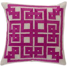 SALE of Greek Key Pillow Magenta/Light Gray – Dorm-Decor