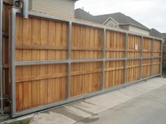 Automatic Driveway Gates Large — Home Ideas Collection Front Fence, Fence Gate, Fence Panels, Aluminum Driveway Gates, Sliding Gate, Living Fence, Automatic Gate, Wooden Gates, Entry Gates
