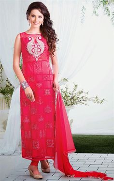 Exotic Fuchsia Color Wedding Salwar Kameez