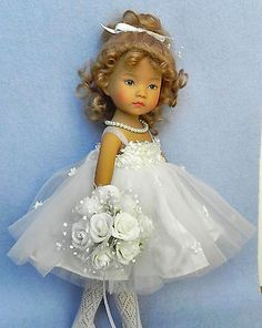 """""""Angelic"""" Doll Dress Mohair Wig 7 8 Bouquet More for Effner Little Darling 