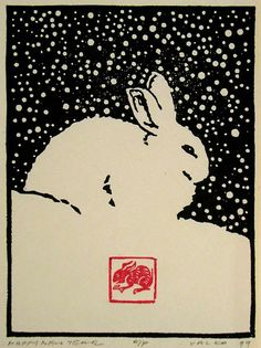 Happy New Year, 1999 by Andrew Valko R.C.A., ... | woodblocks, mostly