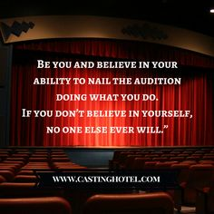 If you absolutely believe in yourself and your ability to succeed nothing will stop you! #ActingTips #CastingAudition #CastingHotel