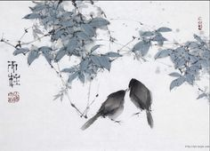 Qin Tianzhu was born in Chengdu City, Sichuan Province in 1952 Zen Painting, Japan Painting, China Painting, Watercolor Animals, Watercolor Art, Art Chinois, Japanese Drawings, Tinta China, Art Japonais