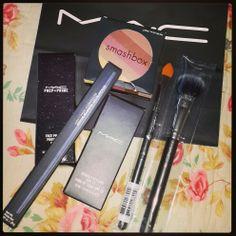New make up, I think I deserve it considering the amount of work I do. #MAC #Makeup #Smashbox #Beauty #BlueLiner #Shopping #Fashion #Hardwork #Brushes #Exciting #Shopaholic