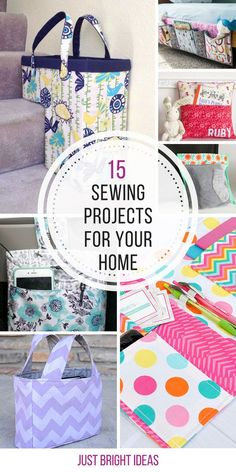 So many great sewing projects for the home - Thanks for sharing!