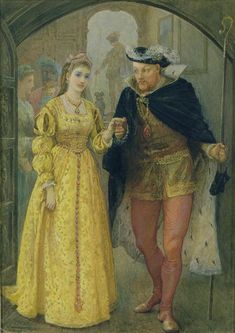 A painting of Anne Boleyn and Henry VIII
