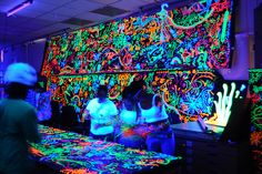 Looks FUN! I love things that glow! :)......Neon paint with black lights would be awesome for our dance party!