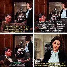 Gilmore Girls - Kelly Bishop, Richard Hermann and Alexis Bledel Gilmore Girls Quotes, Lorelai Gilmore, Stars Hollow, Team Logan, Himym, Book Tv, Tv Quotes, Gossip Girl, Best Shows Ever