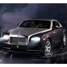 fancy car The New Rolls Royce Wraith