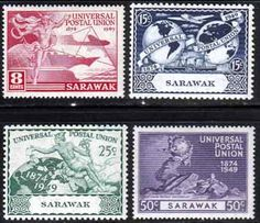 Sarawak Stamps 1949 Universal Postal Union Set Fine Mint SG 167-170 Scott 176 - 179 Other Sarawak Stamps HERE