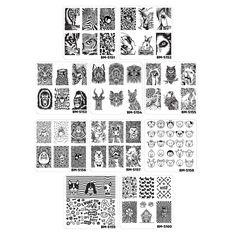 Bundle Monster 10pc Nail Art Manicure Stamping Plates-Fuzzy and Ferocious, Set 2: Amazon.co.uk: Beauty
