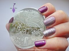 My new nail art design with stampin plate BP-07. More: http://anitakulikowska89.blogspot.com/2014/12/born-pretty-store-stamping-plate-bp-07.html