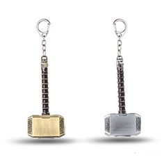 Julie Hot ! The Avengers Thor Hammer Keychain Movie Jewelry Mjolnir Model Zinc Alloy Keyring Key Chain Ring For Fans chaveiro