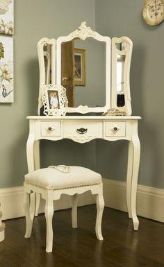 Cream fabric padded stool - Melody Maison®