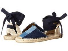 Soludos Patchwork Classic Sandal (Denim) Women's Flat Shoes