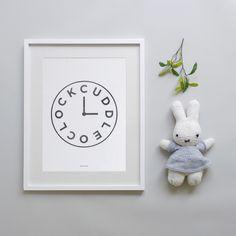 Cuddle oclock nursery print