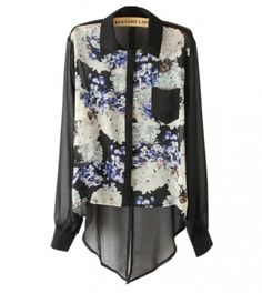 Floral Swallow Tail Shirt