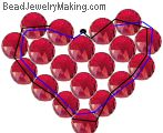Valentine Day Beaded Heart - October 2005 kid Bead Project