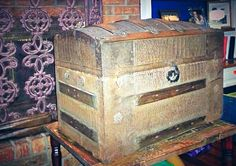long term project restoring antique trunk - fun fun