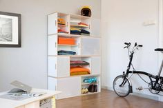 BrickBox/Bedroom: Create a dresser, bedside tables, media, closet storage. Modular means you can create what you need, and change it over time! Storage Furniture, Modern Shelving, Mid Century Design, Modern Storage Furniture, Shelving Unit, Modular Wardrobes, Cool Furniture, Modular Furniture, Aluminium Doors