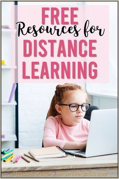 Helpful free resources and tips to keep elementary kids learning while out of school due to school closures, snow days, floods, or hurricanes. Included in the post are links to many websites, virtual field trips and worksheets appropriate for kindergarten, first and second grade students. #distancelearningideas #kidslearningathome #homeschoolideas