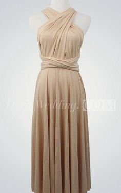 $77.80-Criss Cross Top Jersey Knee Length Champagne Bridesmaid Dress With Sash. http://www.doriswedding.com/criss-cross-top-a-line-pleated-jersey-knee-length-dress-with-sash-pET_102759.html.  Find the perfect bridesmaid dress for your friends including long and short styles, designer and affordable dresses and more. #DorisWedding.com