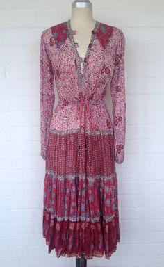 Vintage 70's Indian Boho Sheer Cotton Gauze Ethnic Floral #vintageindiandress #indiangauze #indiancotton Clothes Women, Fashion Clothes, Fashion Outfits, Summer Wardrobe, My Wardrobe, Vintage Hippie, Ethnic Dress, Soft Summer, Indian Dresses