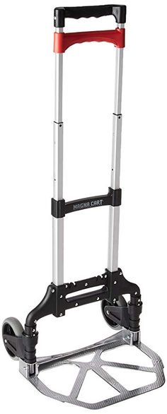 Black Folding Hand Truck and Dolly 75 kg Load Capacity Aluminium Alloy Utility Cart Trolley with Bungee Cords for Indoors Outdoors Travel Home Grocery UK STOCK Sack Truck