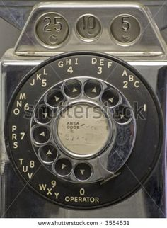 Rotary dial of an old phone.