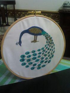 beautiful peacock hoopla :D