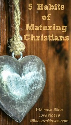 Bite Size Bible Study: 5 Habits of Maturing Christians
