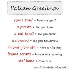 55 best italian greetings images on pinterest in 2018 learn i saluti italian greetings italianteacher italianlessons italianlanguage learnitalian italianonline m4hsunfo
