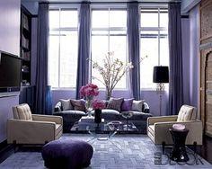 Purple + hollywood glam decor