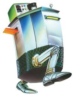 #ROBOT - airbrush acrylic color