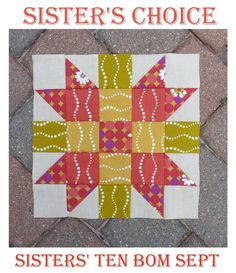 Gen X Quilters - Quilt Inspiration | Quilting Tutorials & Patterns | Connect: Sisters' Ten Modern BOM September Block: Sister's Choice