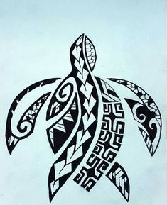 - Maori Turtle- Maori Turtle tattoos tribal tattoos polynesian tattoos c - Polynesian Tattoos Women, Polynesian Tattoo Designs, Polynesian Art, Filipino Tattoos, Maori Tattoo Designs, Maori Tattoo Frau, Tattoo Tribal, Hawaiianisches Tattoo, Samoan Tattoo