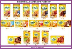 Belvita per biscuit Slimming World Eating Out, Slimming World Shopping List, Slimming World Sweets, Slimming World Syn Values, Slimming World Breakfast, Slimming World Recipes Syn Free, My Slimming World, Syn Free Food, Slimming Word