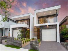 M Cubed Design - Sydney Duplexes - Designer Homes - Architect - Architect Duplex Row House Design, Duplex House Design, Modern House Design, Townhouse Exterior, Modern Townhouse, Style At Home, Modern Architecture House, Architect House, Modern House Plans