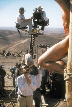 thecameraneverblinks:  Director Martin Scorsese on the set of The Last Temptation of Christ (Universal, 1988)