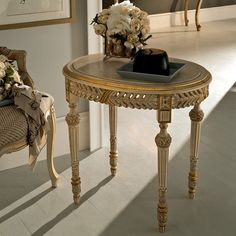 Luxury Italian Designer Oval Marble Side Table at Juliettes Interiors. Gold Furniture, Eclectic Furniture, French Furniture, Antique Furniture, Painted Furniture, Furniture Sets, Square Side Table, Round Side Table, Dressing Table With Chair