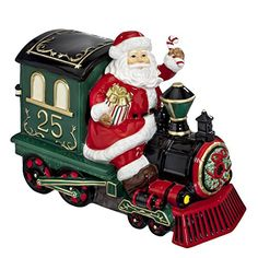 Waterford 2015 Holiday Heirlooms Ceramic Cookie Jar Santa on Train -- This is an Amazon Affiliate link. Read more at the image link.