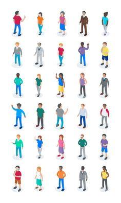Isometric characters 2
