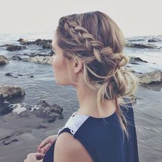 A Braid Into a Low Bun