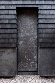 Flower Michelin Architects has extended Shingle House on the west coast of Scotland, adding a charred shingle-clad gabled cabin. Wood Architecture, Architecture Details, Modern Entrance Door, Architectural Shingles, West Coast Scotland, Cedar Shingles, Tiny House Cabin, The Gables, Maine House