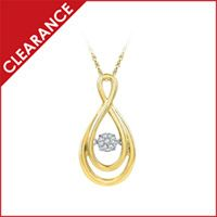 1/20 ct. tw. Lovebeat Diamond Infinity Pendant in Sterling Silver with Yellow Rhodium Plating
