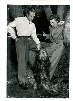 0 Gene Raymond and Jeanette MacDonald with Skye Terrier Dog