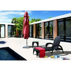 Sato (S-2063) - Chaise Lounge With Cushion and Wheel - Patio - Office/Patio