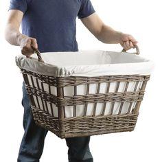 Beautiful Kubu Wicker French Laundry Baskets | The Basket Lady
