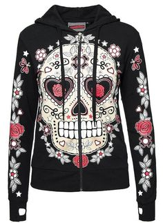 Jawbreaker Women's Sugar Chick Hoodie - My Sugar Skulls(Mix Chicks Shirt) Candy Skulls, Sugar Skulls, Skull Purse, Skull Shoes, Skull Fashion, Rock Fashion, Fashion Fashion, Fashion Ideas, Grunge