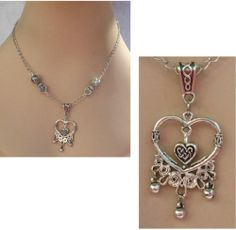Silver Celtic Heart Pendant Necklace Jewelry Handmade NEW Accessories Fashion